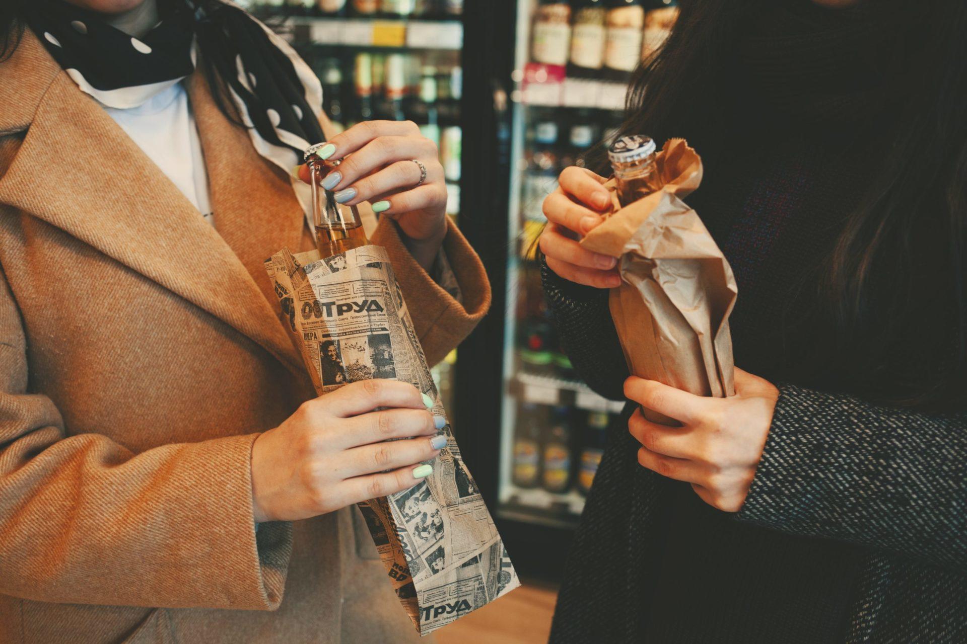 бумажные пакеты цвет крафт под пиво купить Екатеринбург