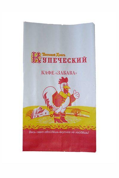 Крафт Пакеты с логотипом Кафе забава купить Екатеринбург